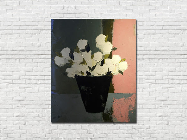 """White Tulips"" Painting by TJ Walton"