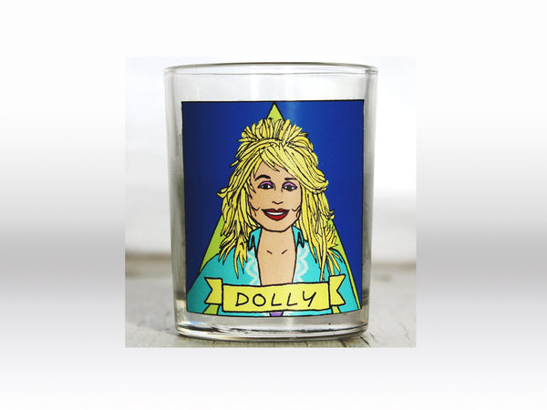 Dolly Parton Flaming Idol Votive Candle