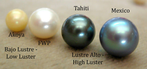 Pearl Luster Comparison: Akoya, Freshwater, Tahitian & Cortez
