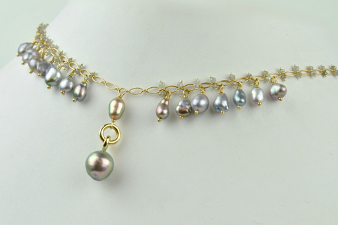 Cortez Keshi Pearl necklace designed by Kojima Pearl