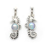"""SeaHorse"" Silver Earrings with Cortez Mabes"