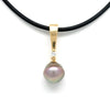 """Diamond Classic"" 18K Yellow Gold & Cortez Pearl Pendant by Kathe Mai"