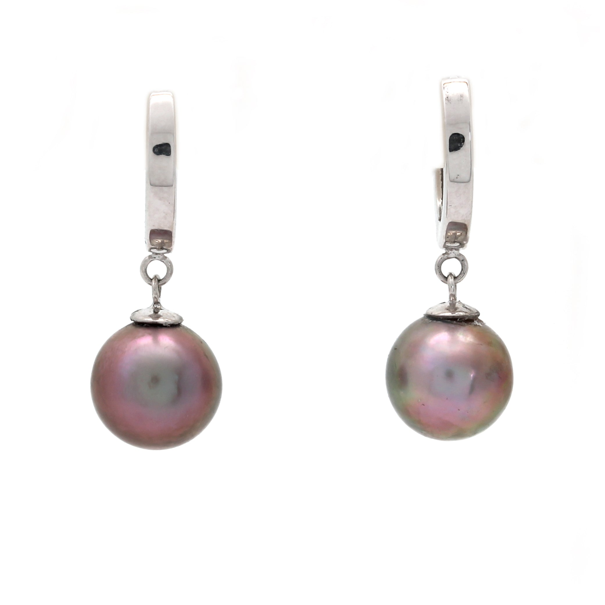 14K White Gold Earrings with Pearls from the Sea of Cortez