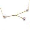 """Cancer"" 14K Yellow Gold Pendant and Chain with Cortez Keshi Pearls"