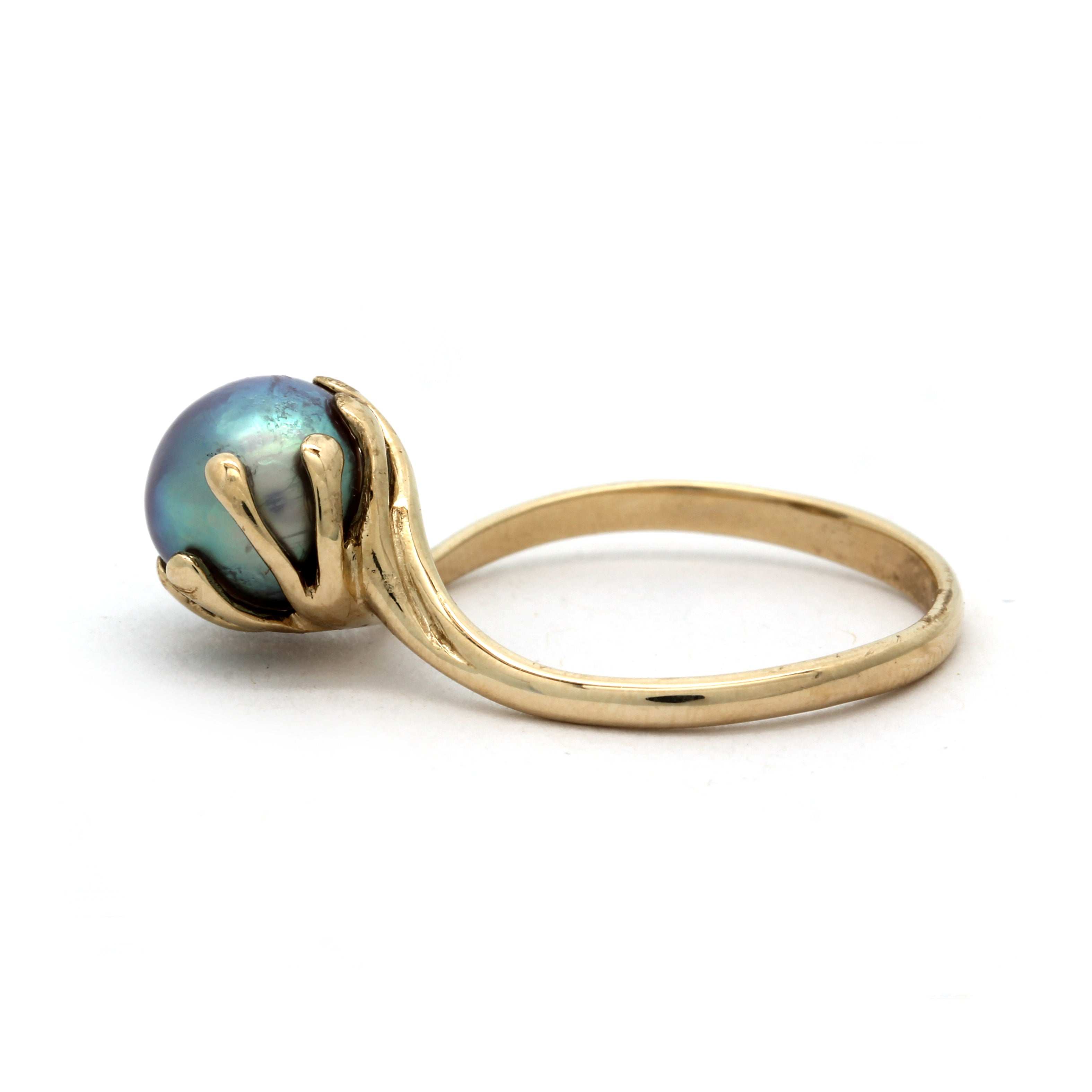 14K Yellow Gold Ring with a Cortez Pearl