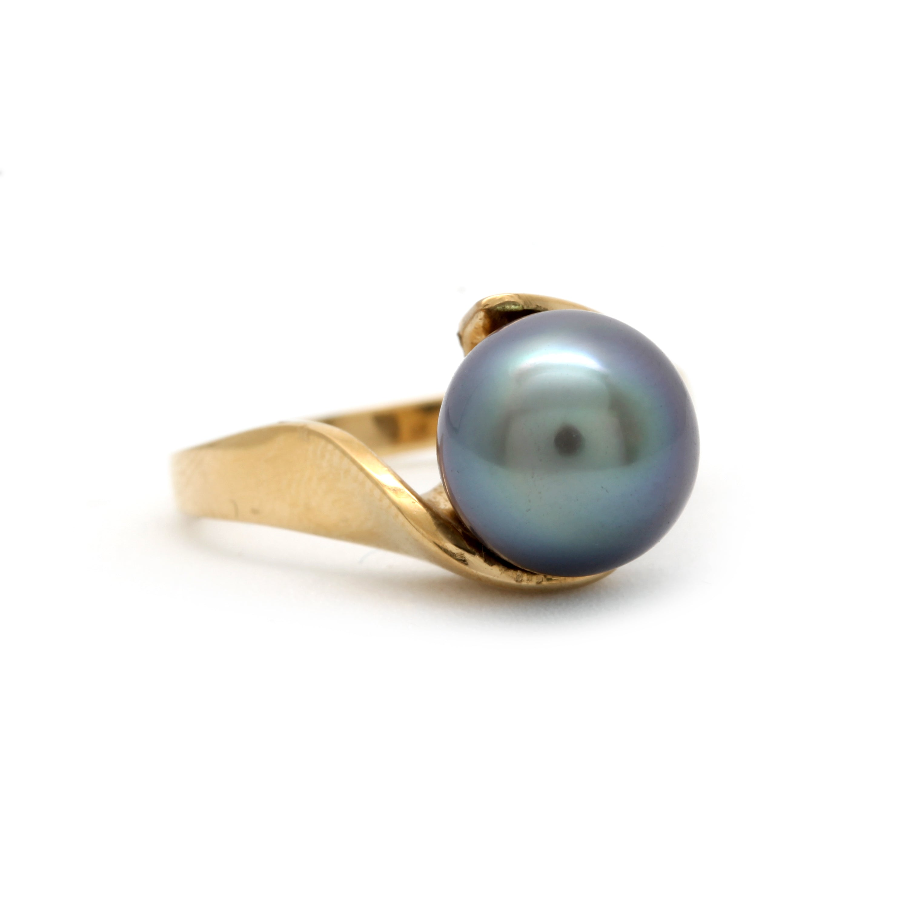 18K Yellow Gold Ring with 2020 Cortez Pearl