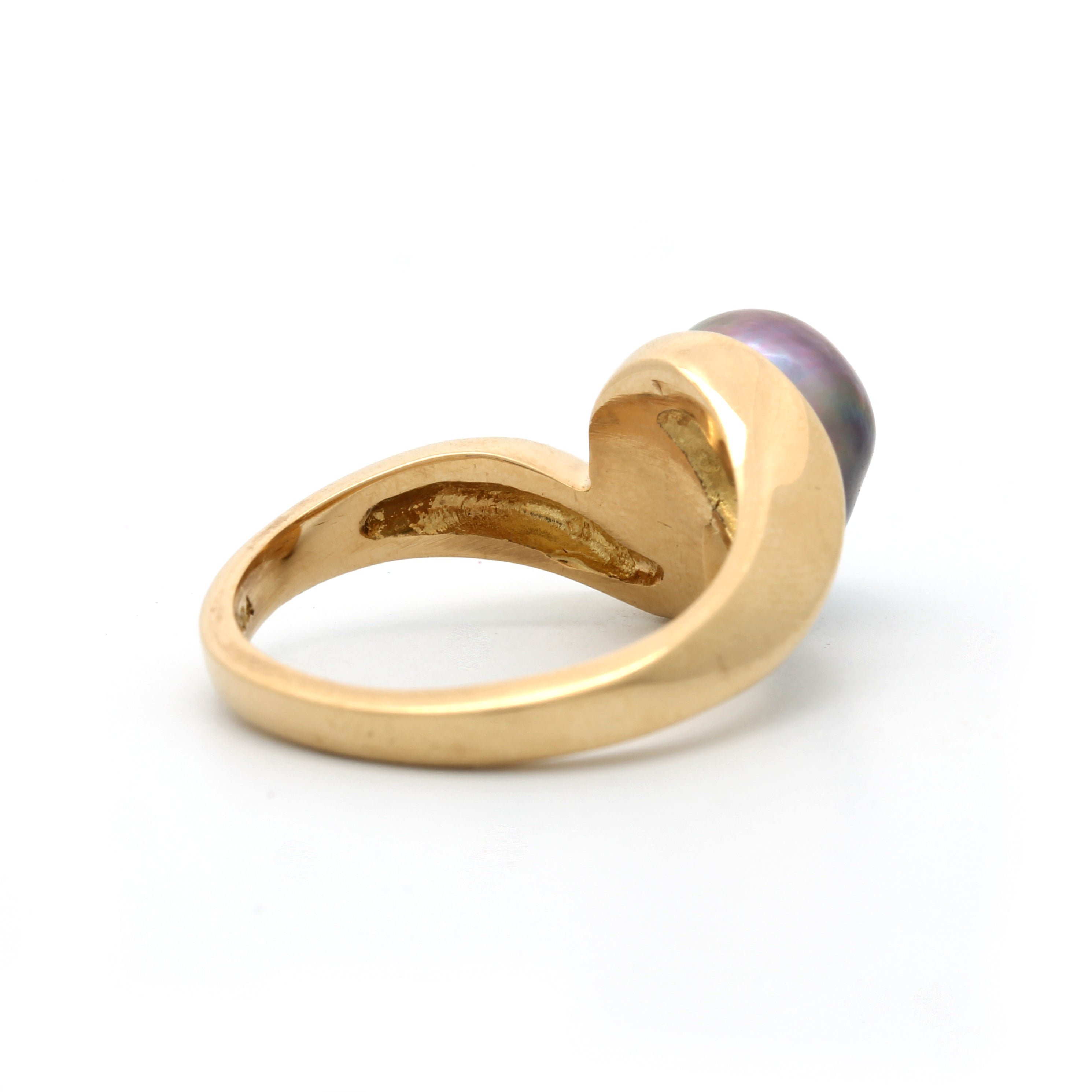 NEW Gorgeous 18K Yellow Gold Ring with Cortez Pearl By Kathe Mai