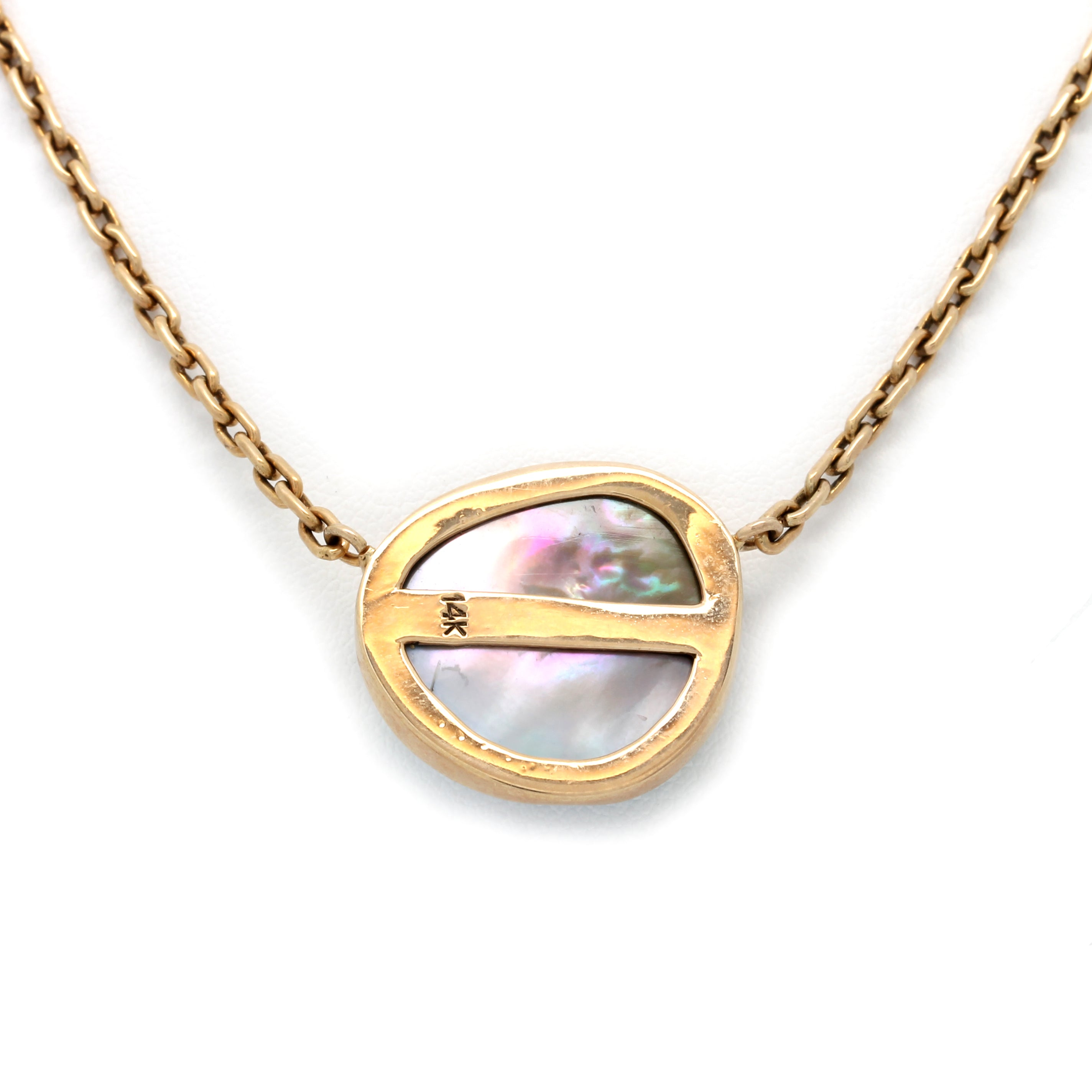 14K Yellow Gold Cortez Blister Pearl Necklace