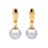 """Classic"" 18K Sea of Cortez Pearl & Diamond Earrings by Kathe Mai"