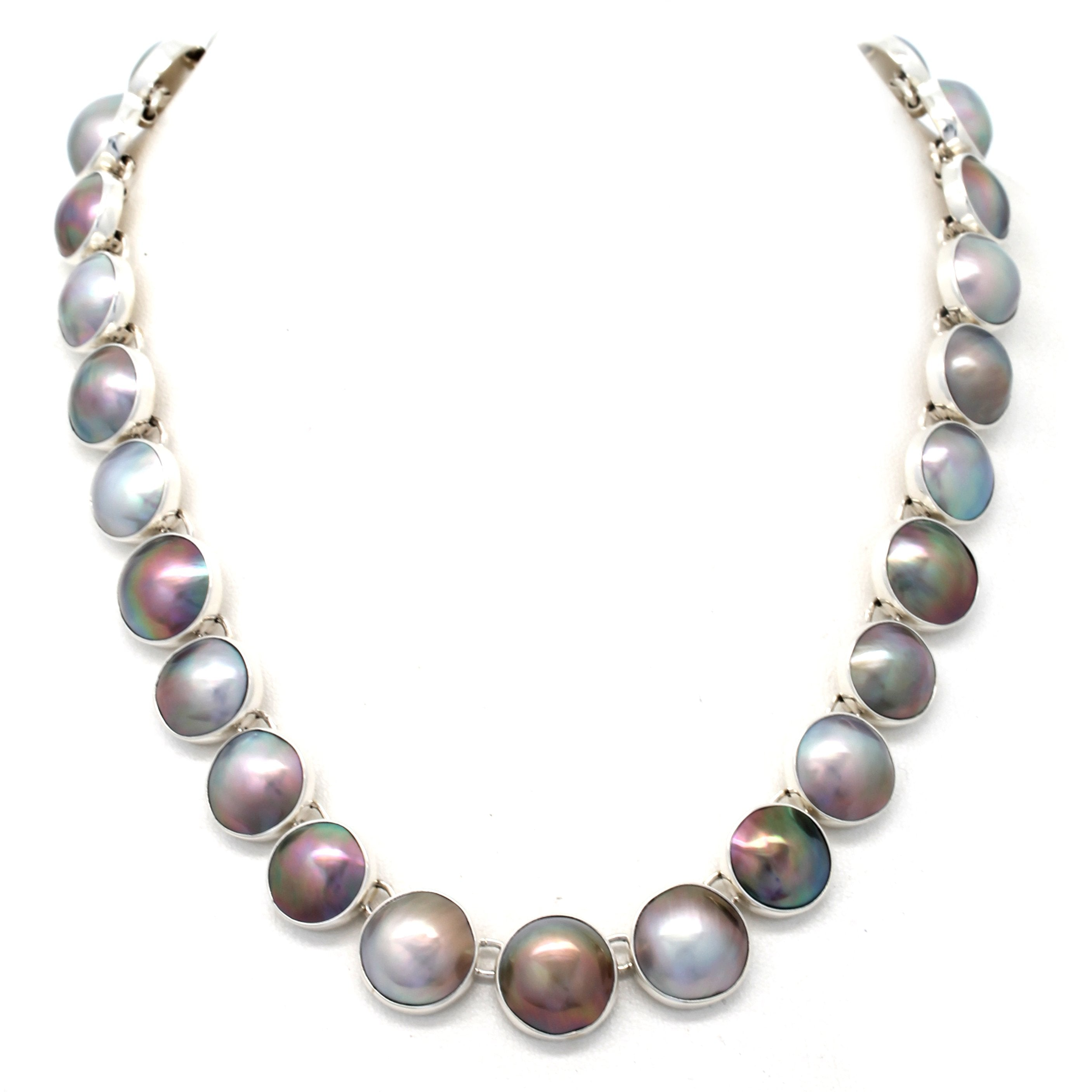 Mabe Pearl Silver Necklace