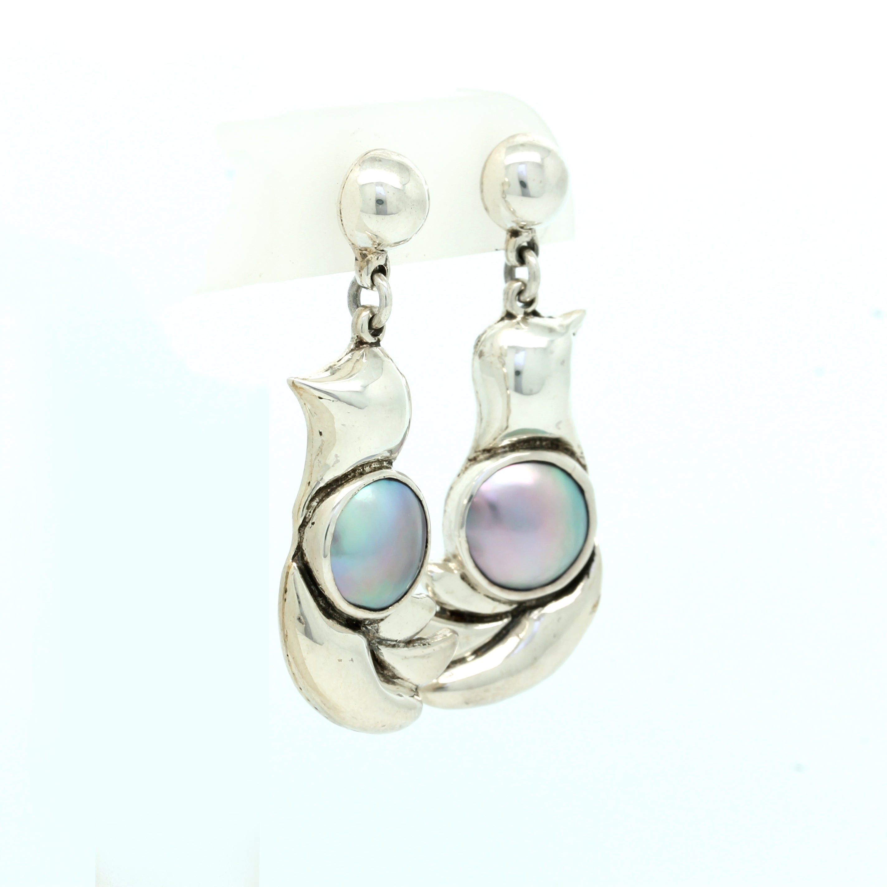 """Dove"" Silver & Cortez Mabe Earrings"
