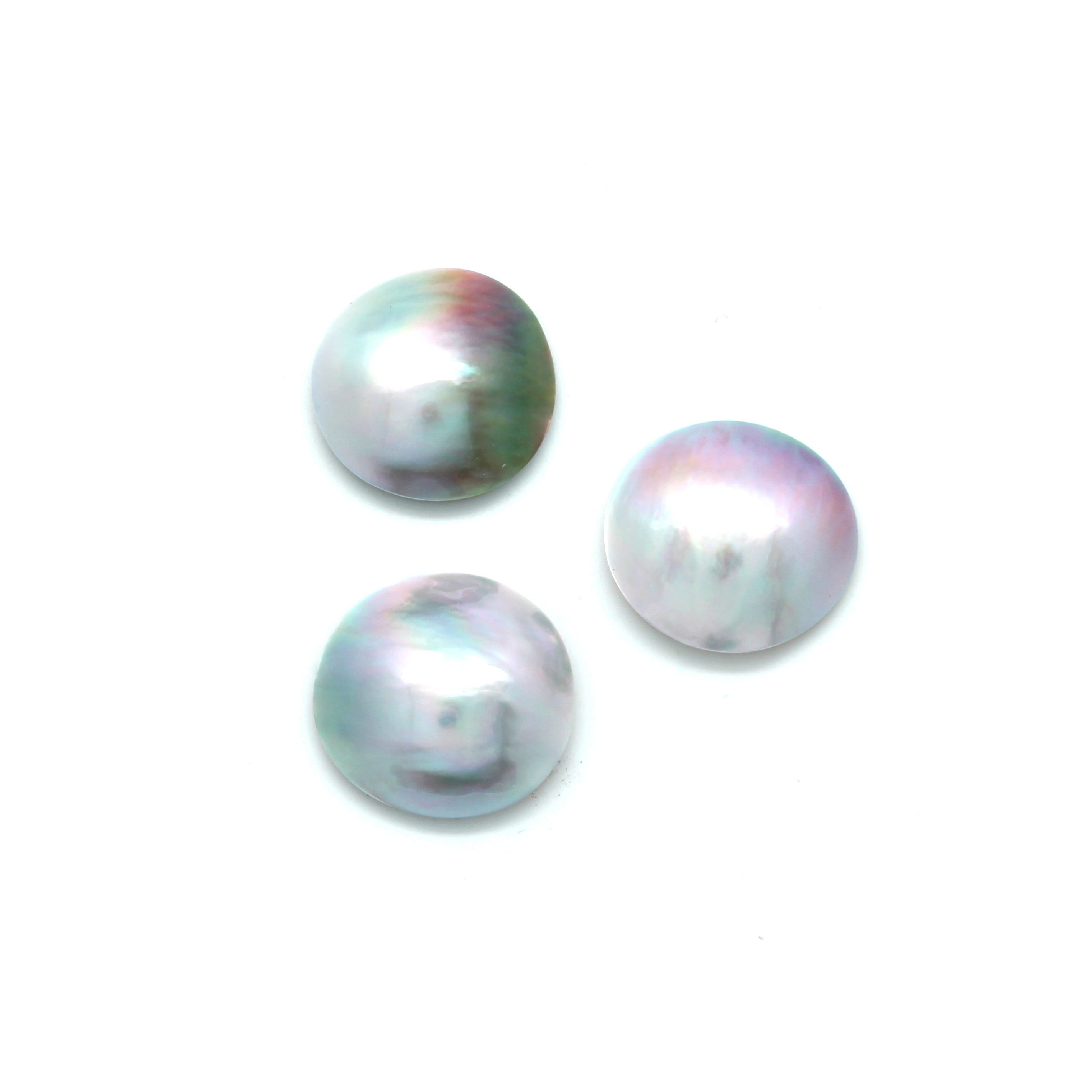 3 Oval Cortez Mabe Pearls