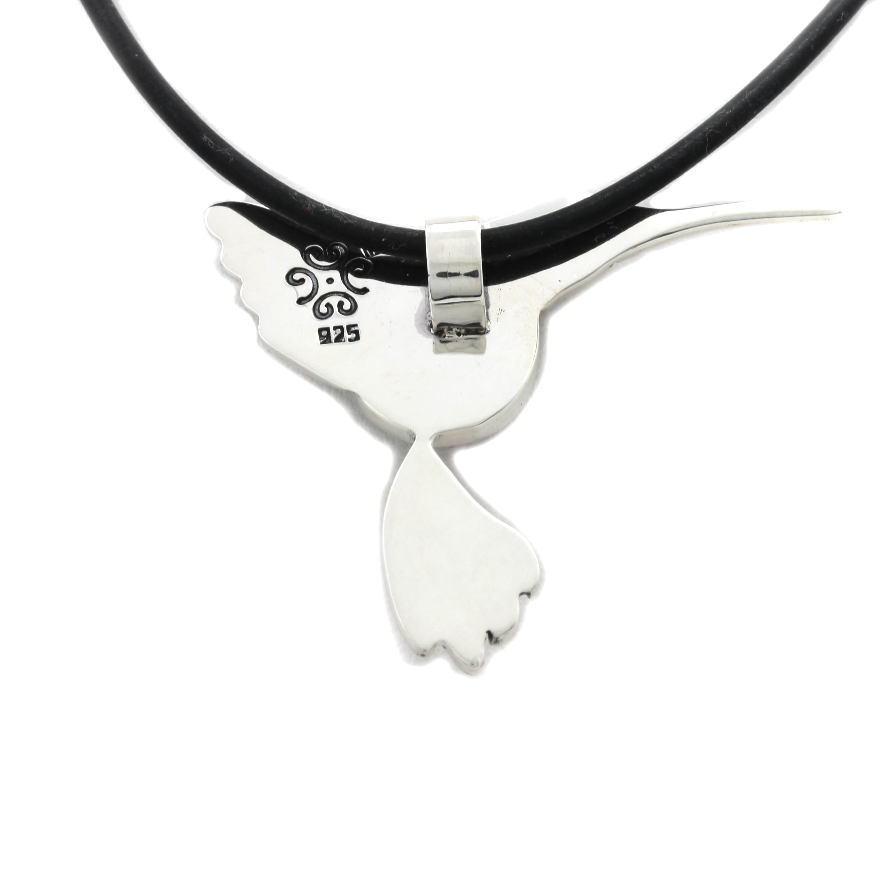 """Hummingbird"" Silver Pendant with Cortez Mabe Pearl"