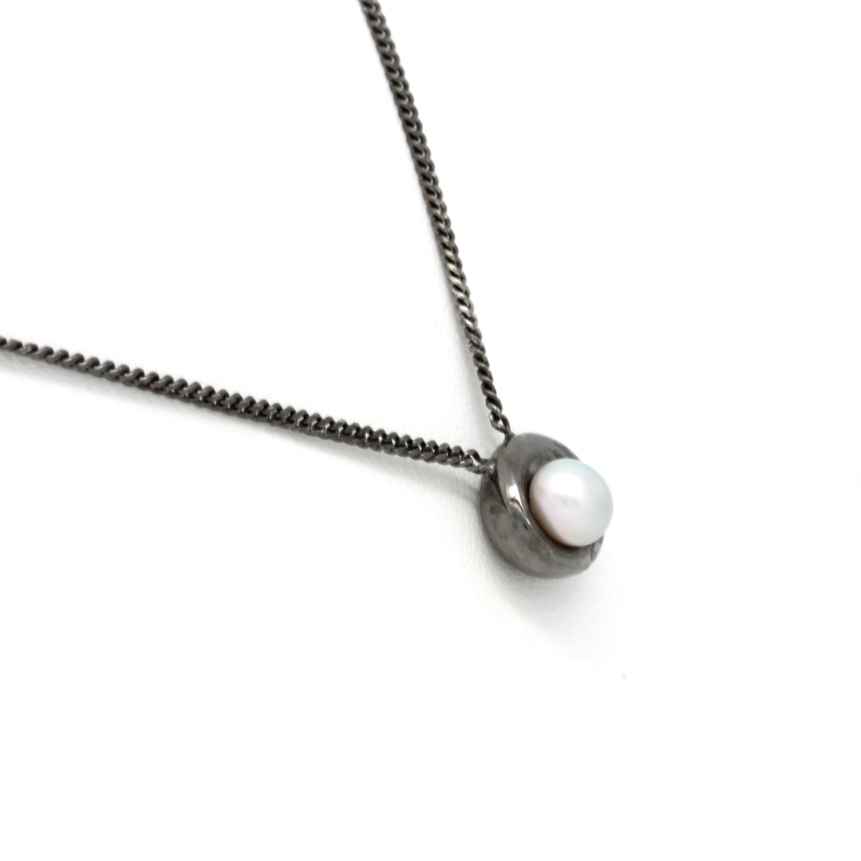 """NS"" Silver Chain with Keshi Pearl from the Sea of Cortez by ""Noble Sensación"""