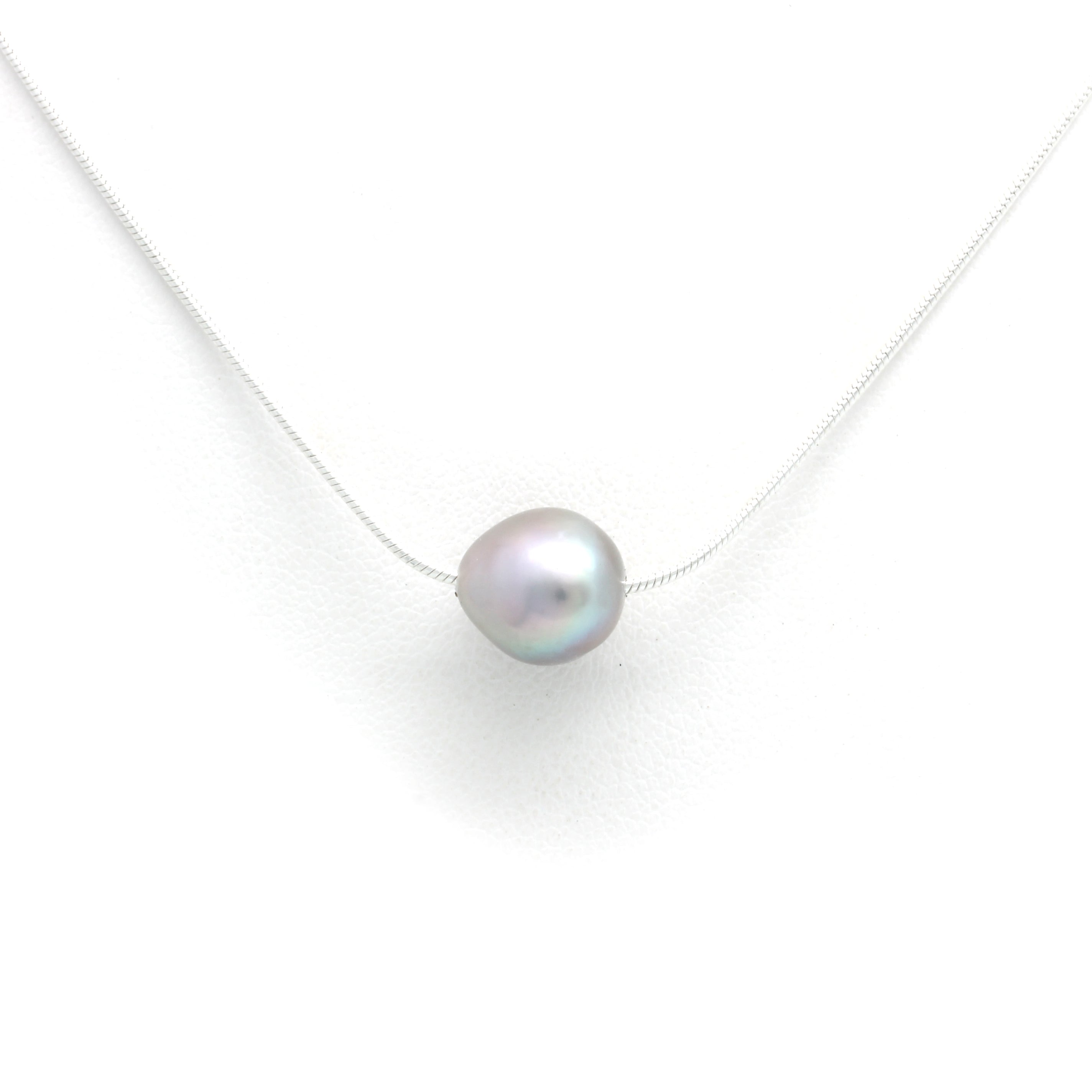 Silver Chain with Cortez Pearl