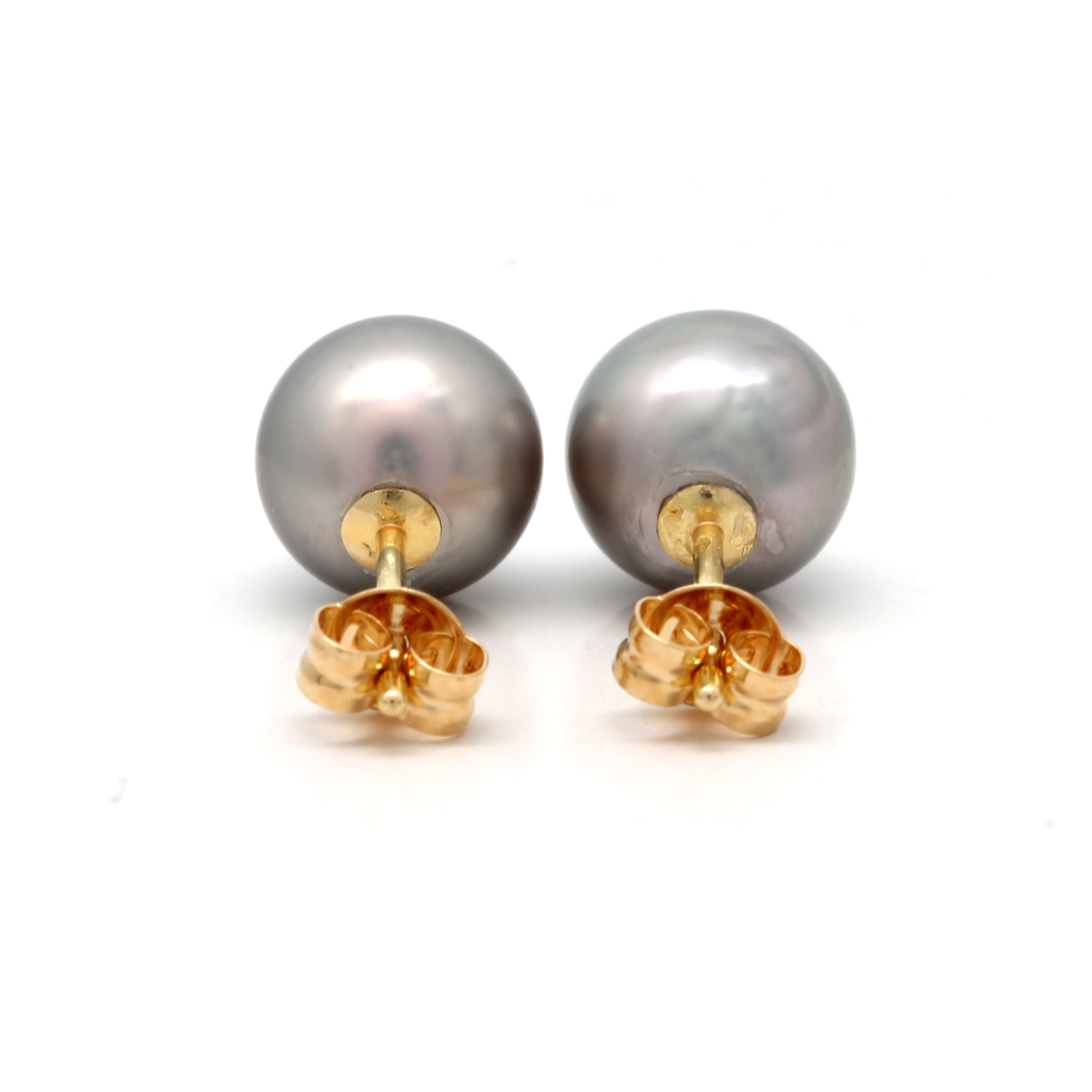 18K Yellow Gold Earrings with Cortez Pearls