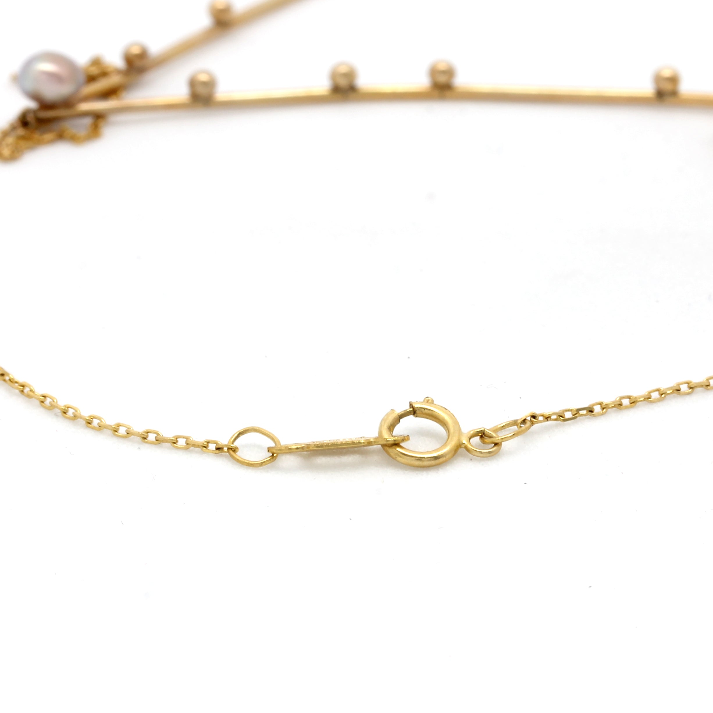 """Pisces"" 14K Yellow Gold Pendant and Chain with Cortez Keshi Pearls"
