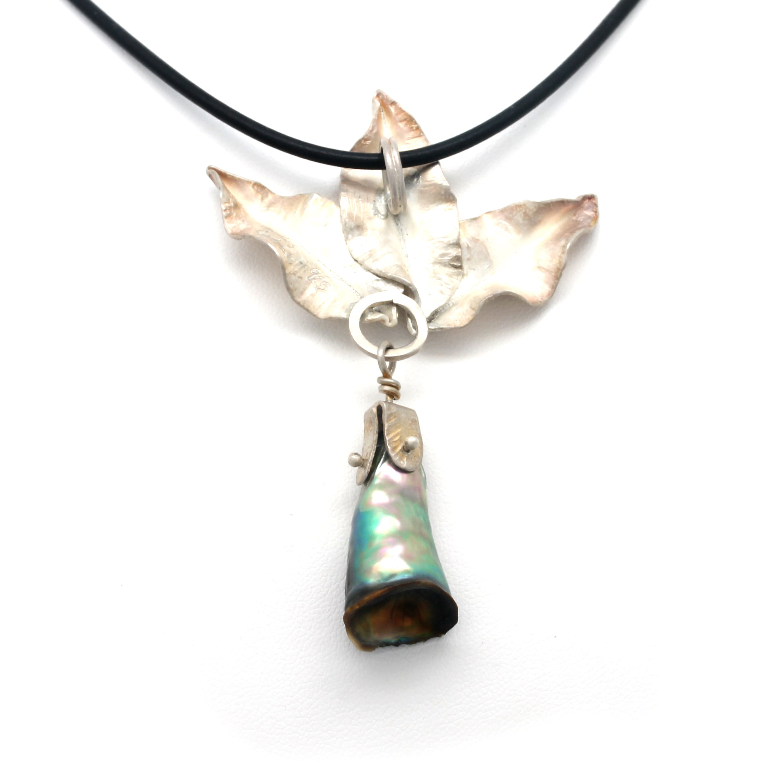 Natural Abalone Pearl on Silver Pendant by Carlos Cabral