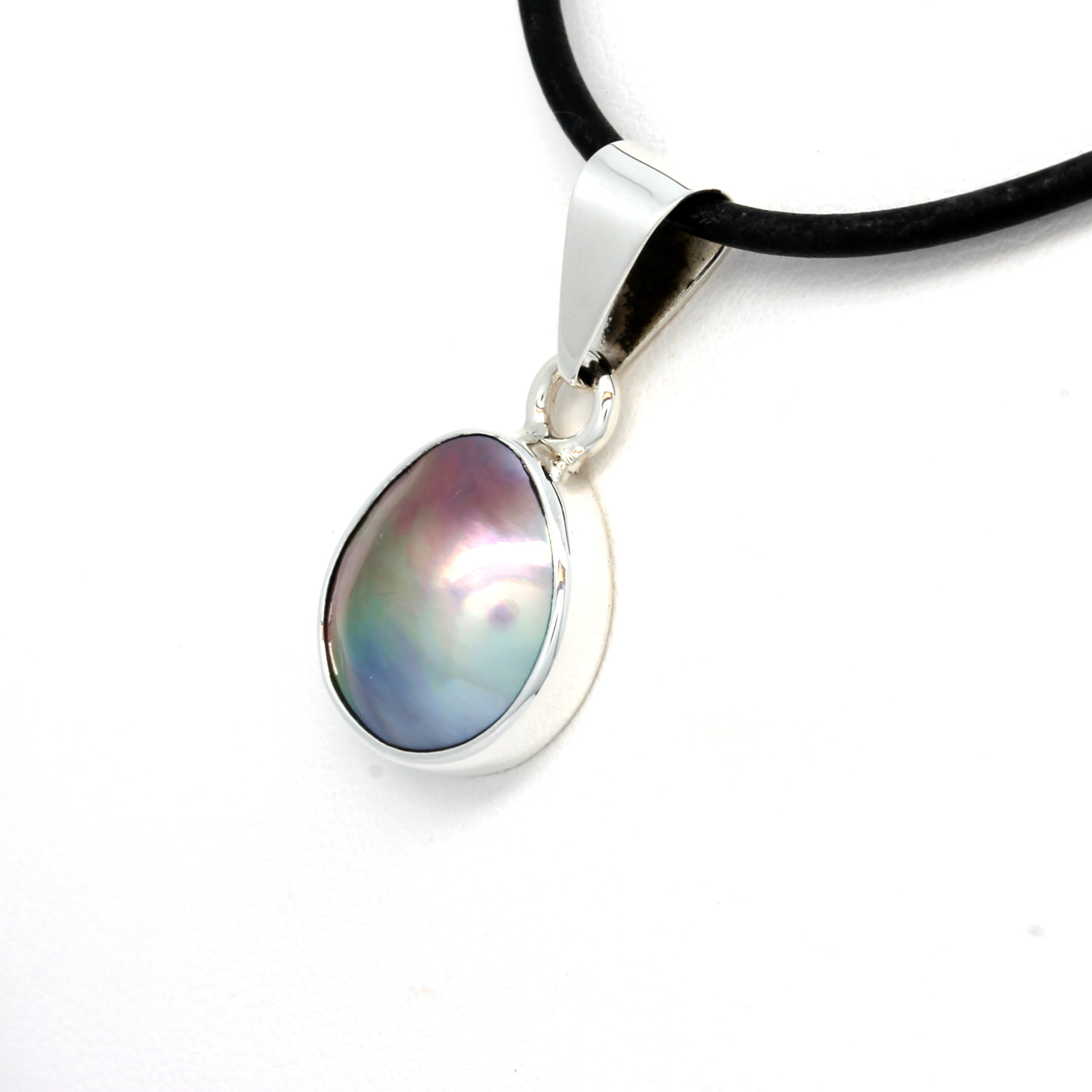 Silver Pendant with Cortez Mabe Pearl
