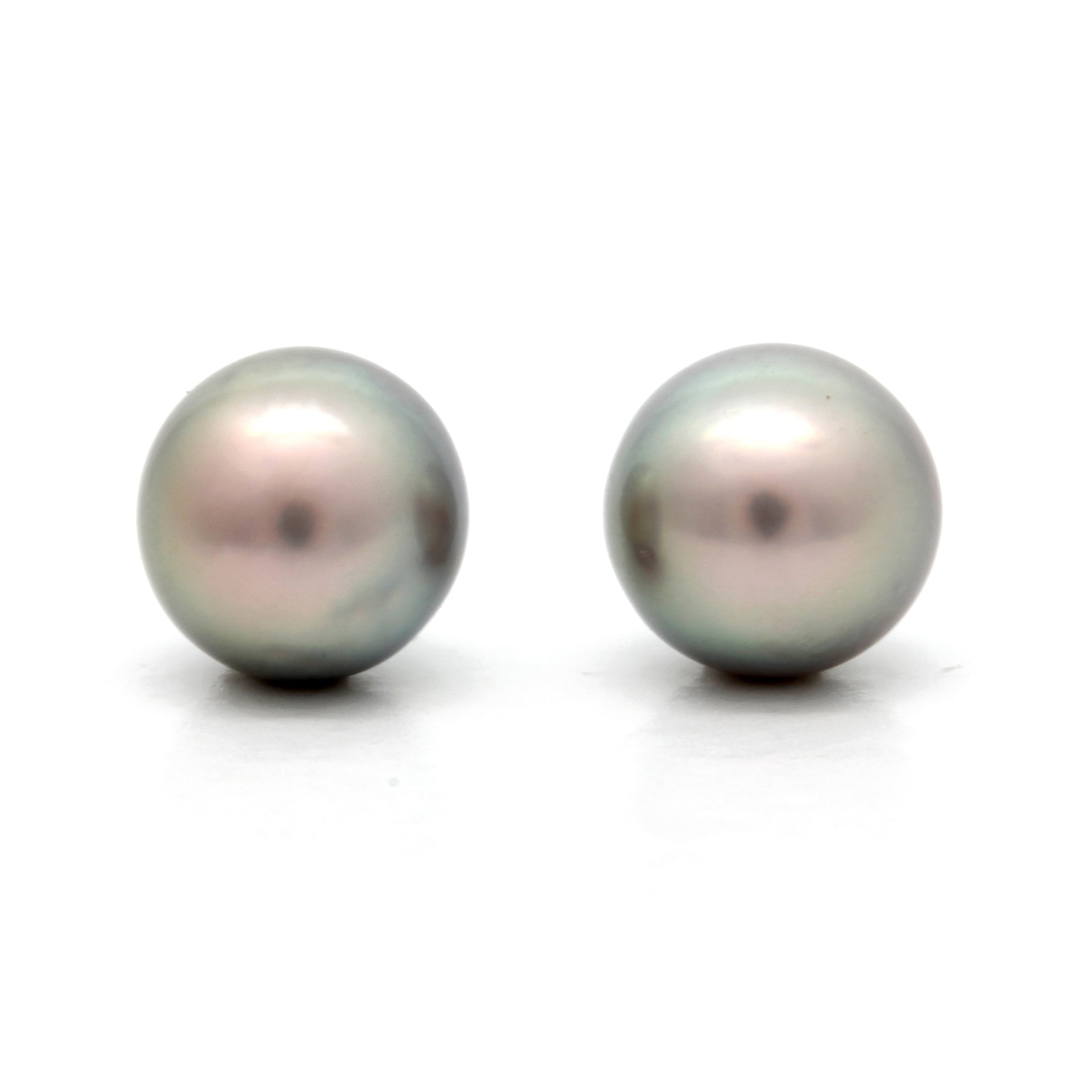 Pair of 9.5 mm Baroque Cortez Pearls
