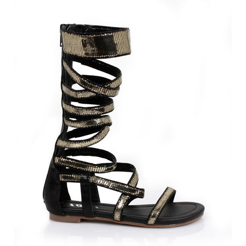 0 Children's Gladiator Flat Sandal.