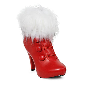 4 Womens Bootie with Faux Fur