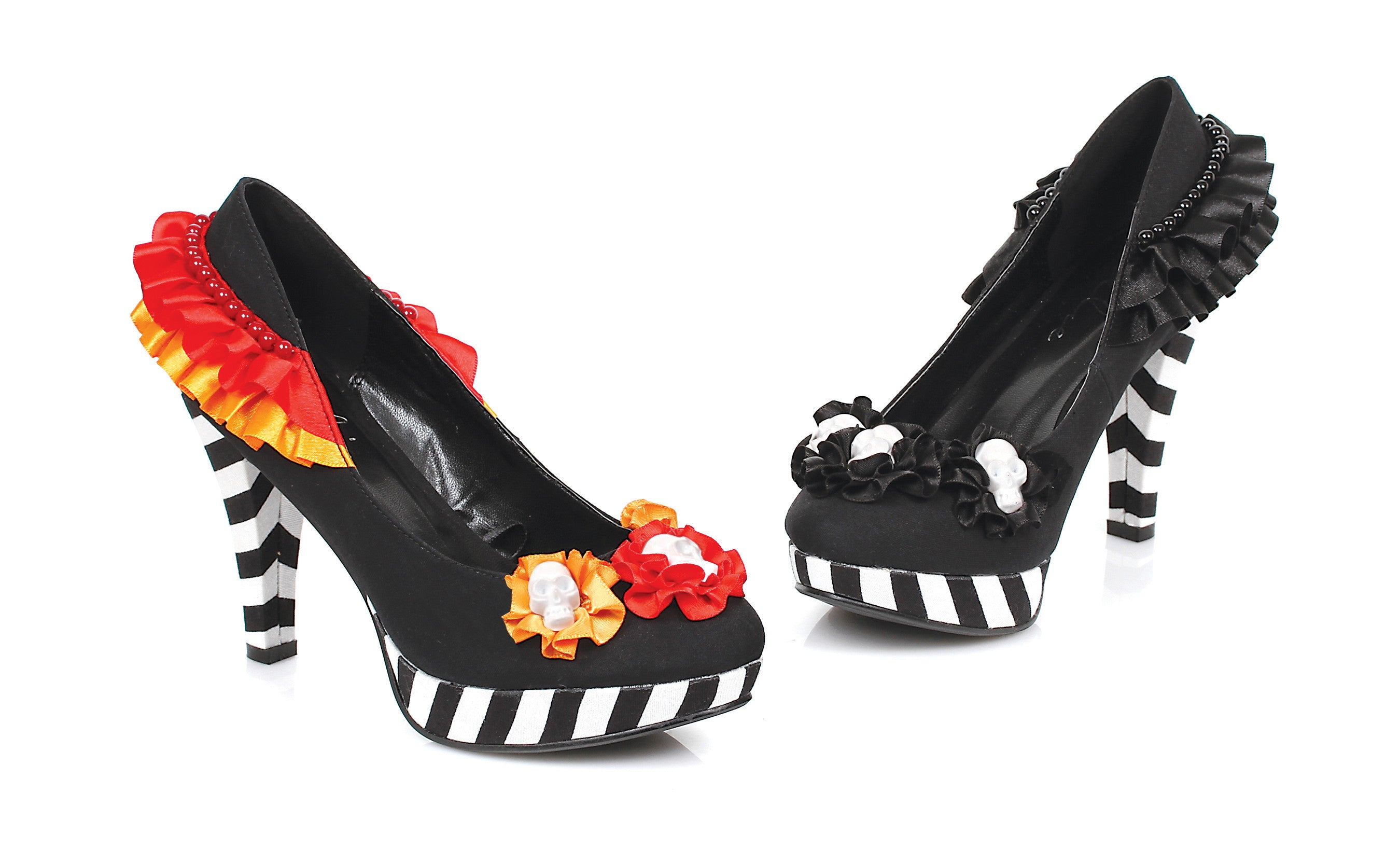 "4"" Heel Flower W/ Skull Pump."