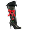 "4"" Heel Pirate Boot W/3 Ribbons"