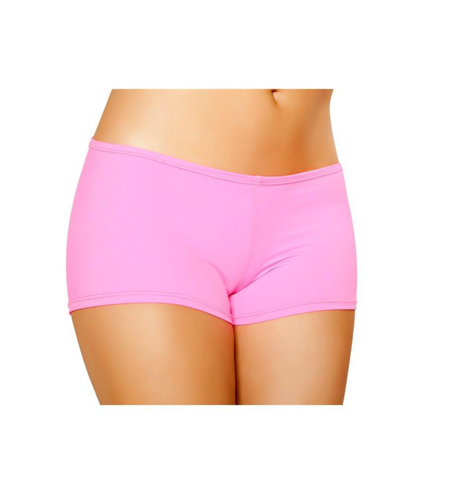 SH223-HP - Full Covered Shorts - Hot Pink - Roma Costume Shorts - 1