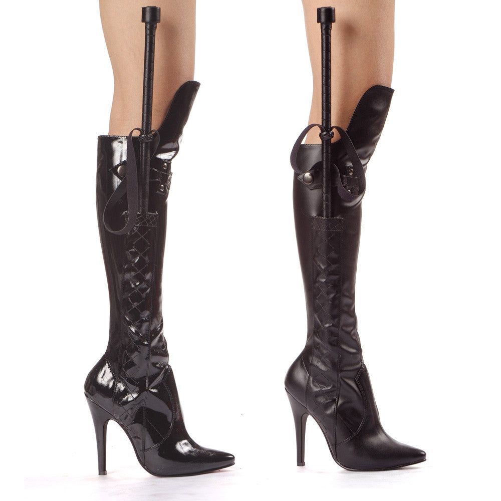 "5"" Heel Knee Boot With Whip"