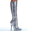 "5"" Heel Sequins Knee Boot."