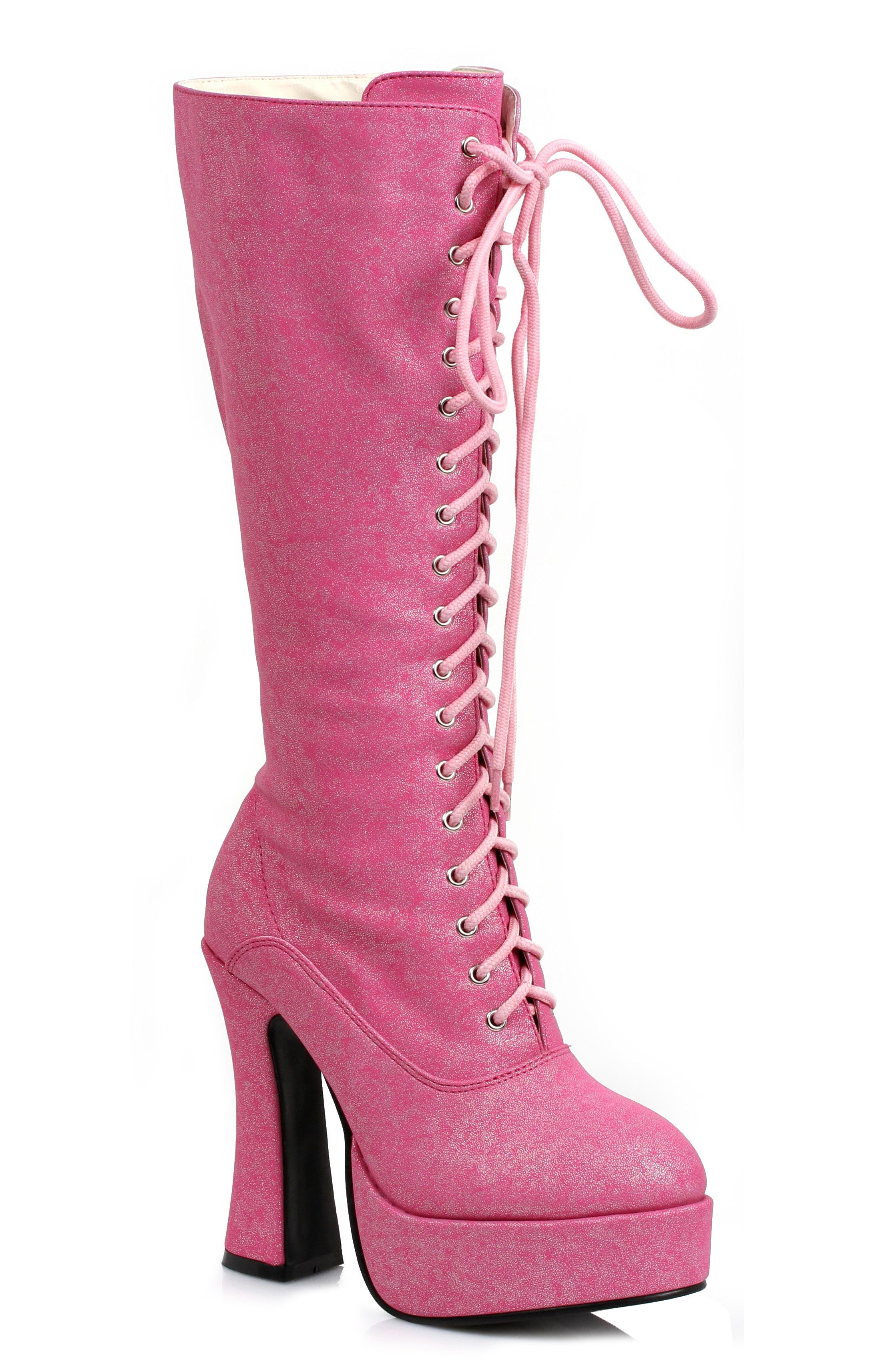 5 INCH SHIMMER LACE UP BOOT