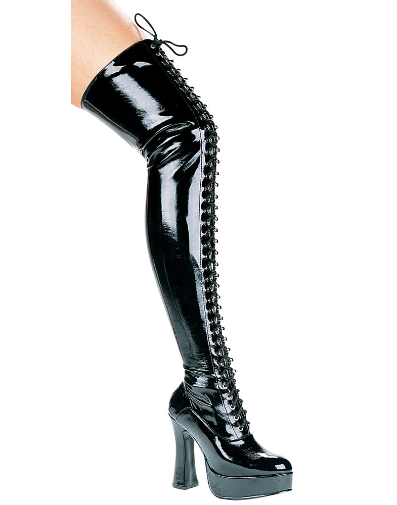 "5"" Heel Thigh High Stretch Boot."