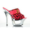 "6"" cut out platform neon mule with side buckle d�cor"