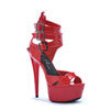 "6"" PEEPTTOE PLATFORM WITH TRIPPLE STRAP AND BUCKLE DETAIL"