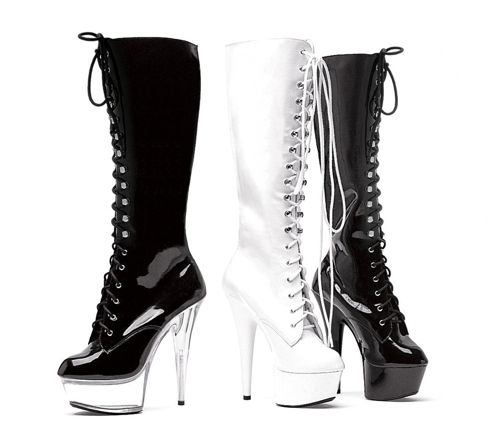 "6"" Pointed Stiletto Knee Boot W/Inner Zipper."