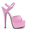 "6.5"" Stiletto Heel Sandal."
