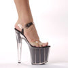 "8"" Pointed Stiletto Sandal W/Glitter In Platform."