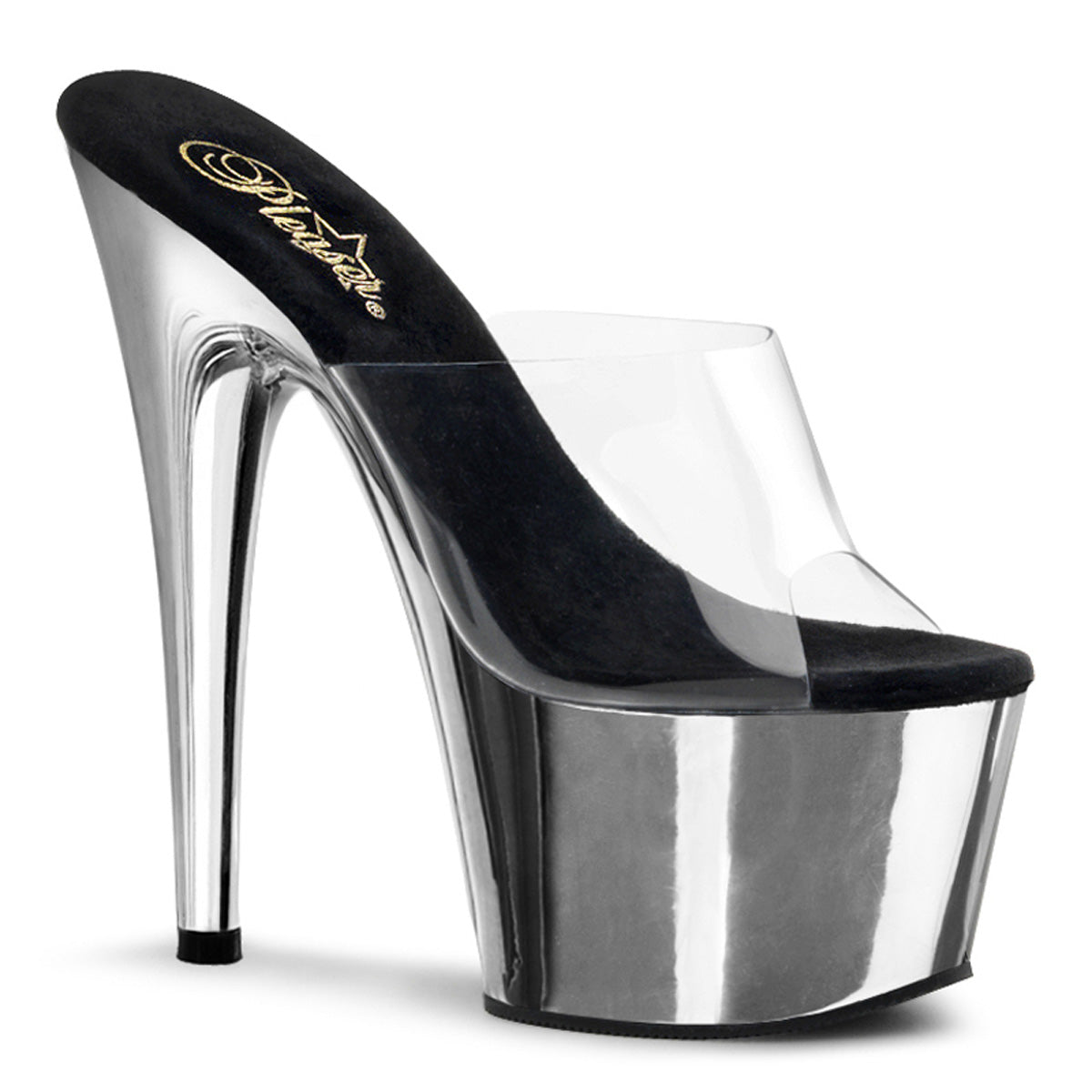 "7"" Heel, 2 3/4"" Chrome Plated PF Slide"
