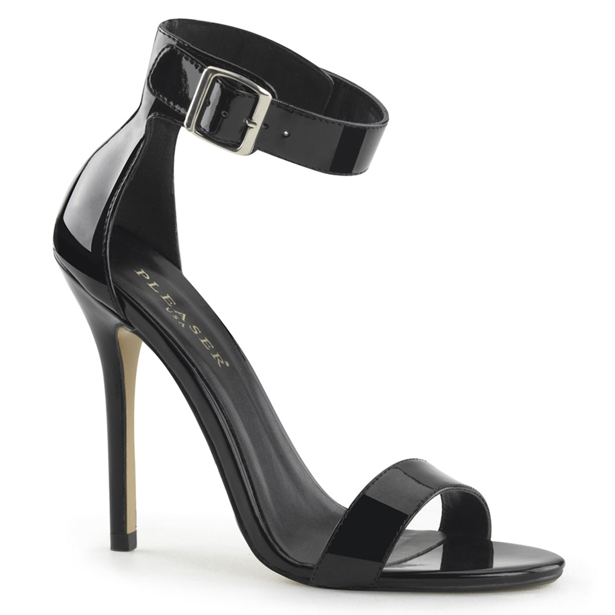 "5"" Heel, Closed Back Sandal W/ Buckled Ankle Strap"