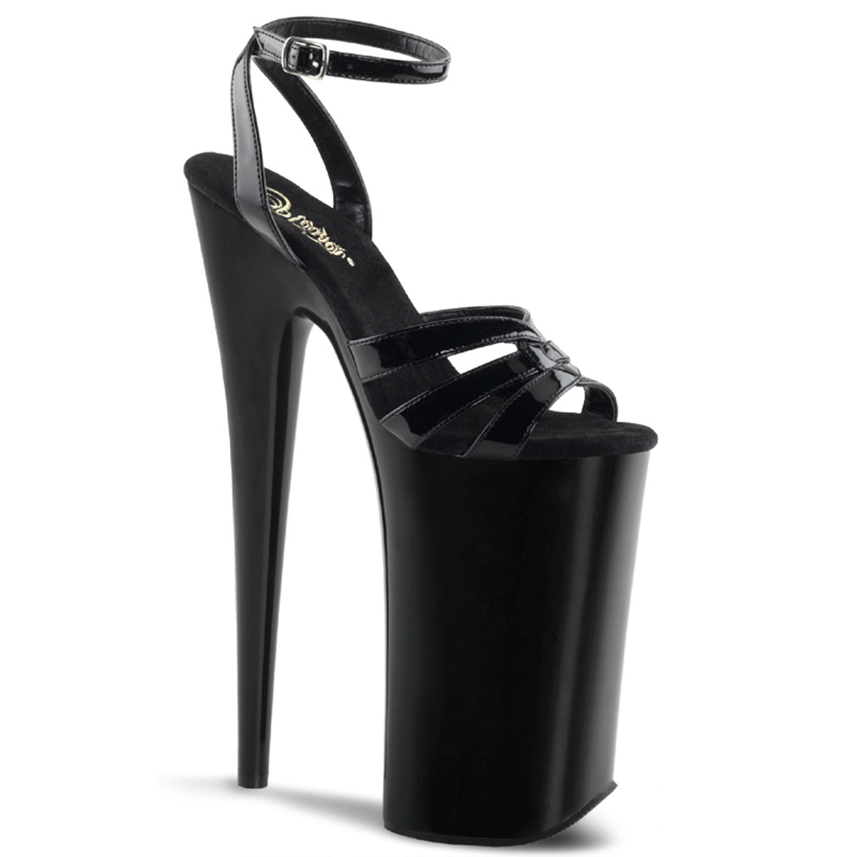 "10"" Heel, 6 1/4"" PF Wrap Around Ankle Strap Sandal"