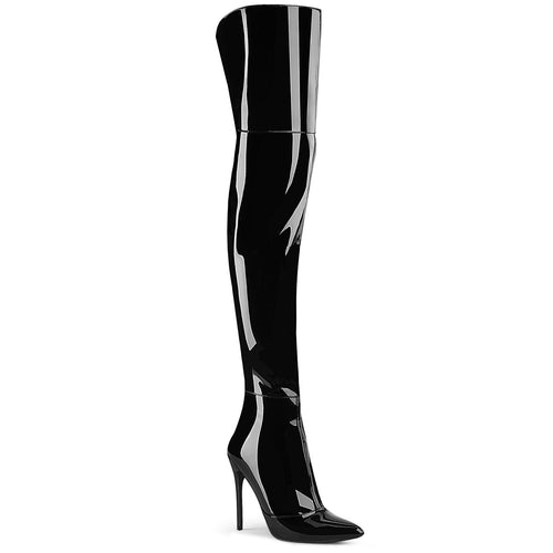 "5"" Stretch Thigh High Boot, Back Zip"
