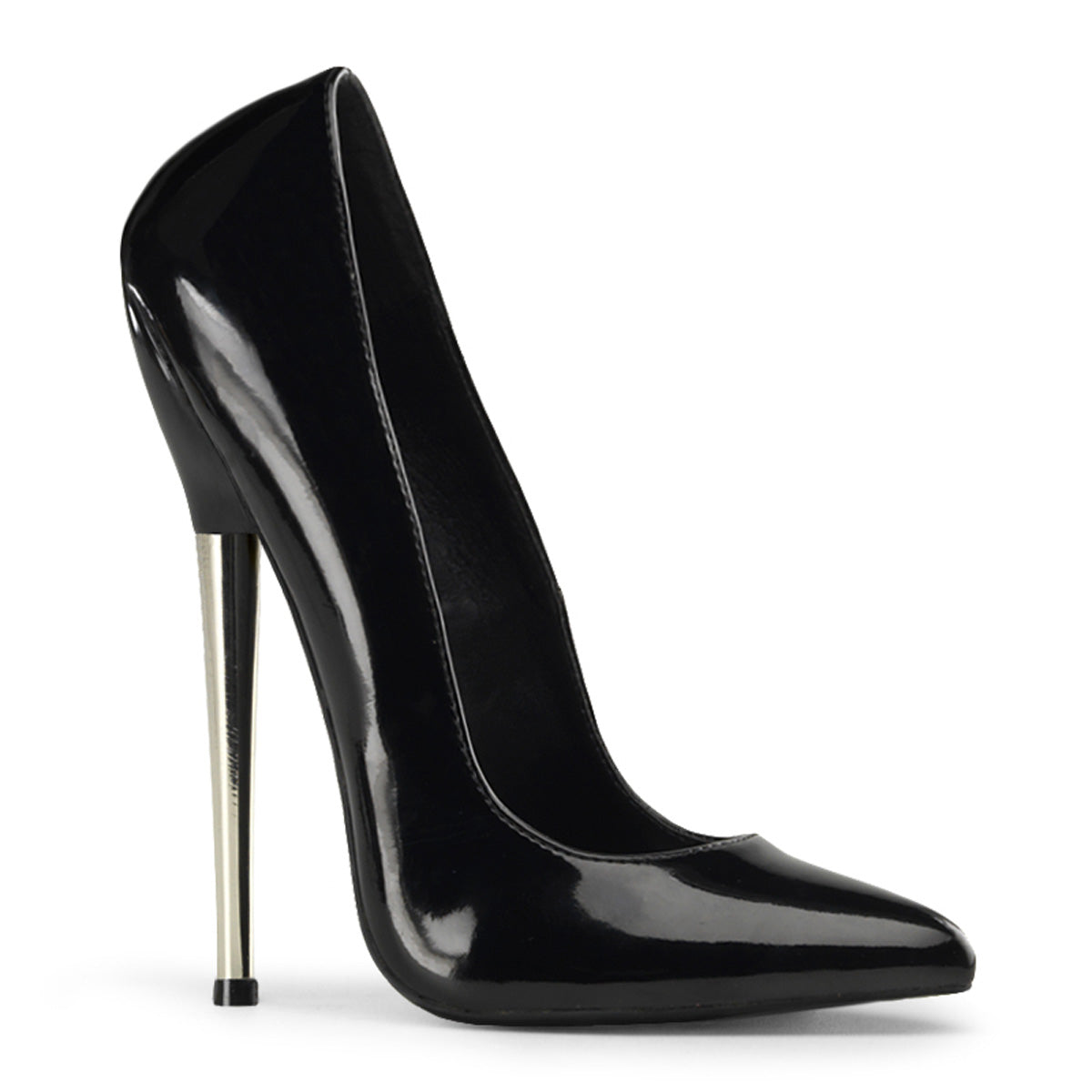 "6 1/4"" Solid Brass Heel Plain Pump"