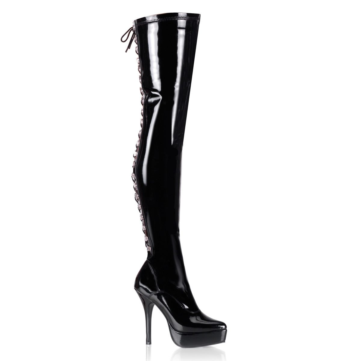 "5 1/4"" Back Lace-Up Stretch PF Thigh Boot"