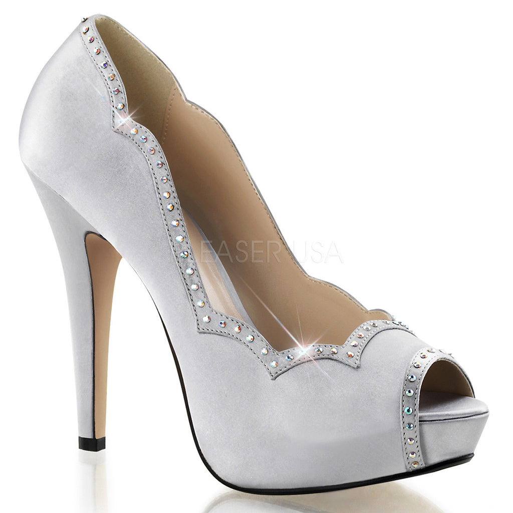 "5"" Heel, 1"" PF Peep Toe Pump w/RS on Trim & Toe"