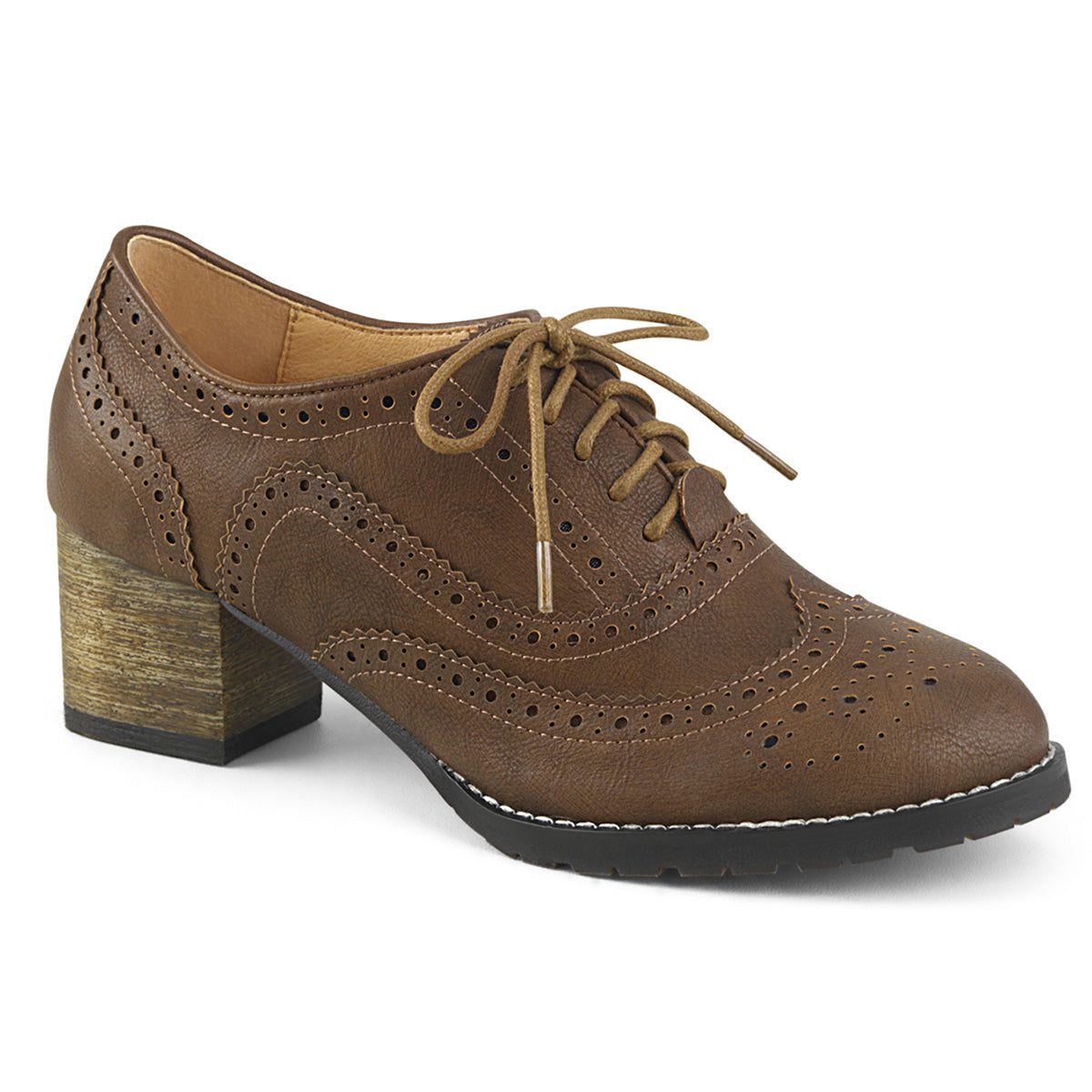 "2"" Block Heel Spectator Oxford"