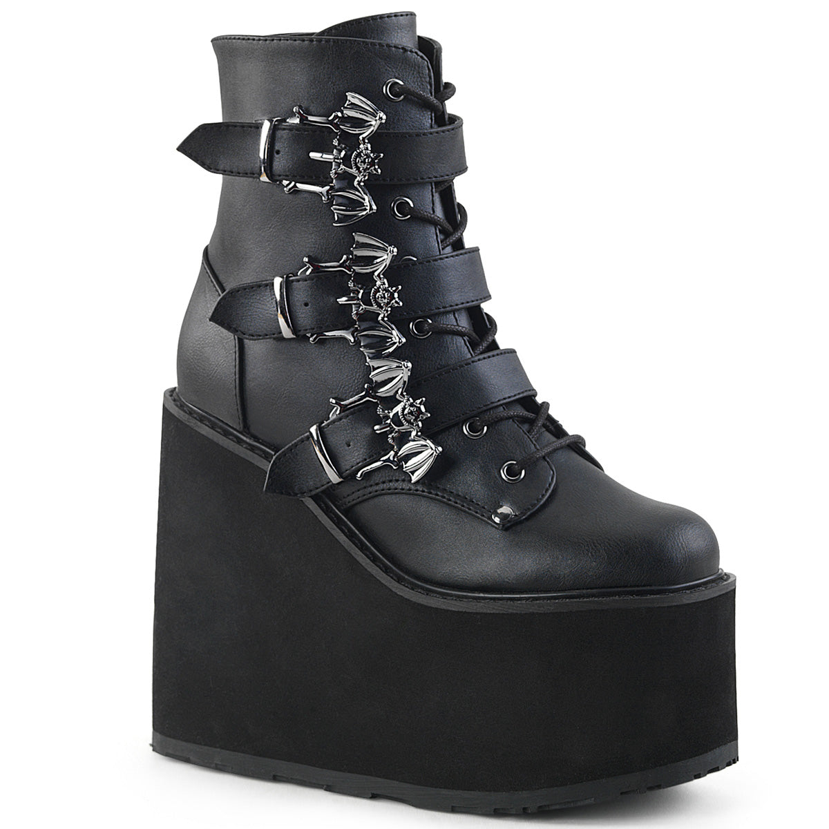 "5 1/2"" PF Lace-Up Ankle Boot w/ 3 Buckle Straps, Side Zip"