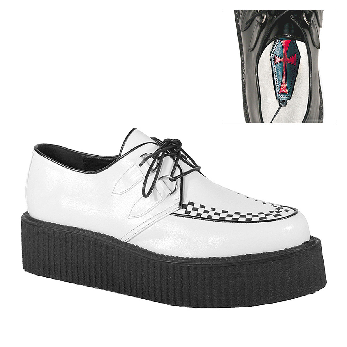 "2"" PF Basic Vegan Creeper Shoe, w/ Stitching"