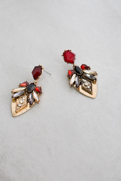 LOVELY RED DROP EARRINGS