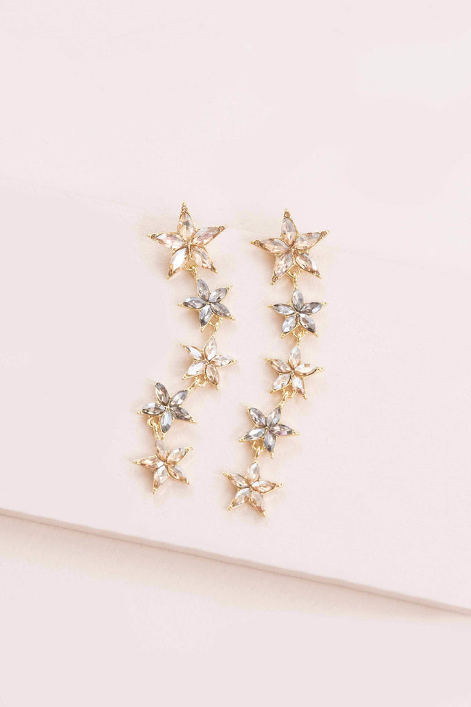 YOU ARE A STAR DROP EARRINGS(14K)